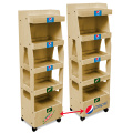 Wood Drinks Shelf Display Rack