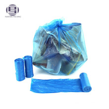 Best sale blue cheap high capacity transparent volume cornstarch garbage bag