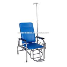 Médico manual silla de diálisis de sangre ajustable / silla de donante de sangre