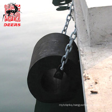 Durable marine bumpers rubber cylindrical fender id 300mm  for port