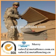 1.68x0.61X3.05m welded galvanized military hesco bastion sand wall barrier
