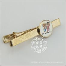 Зажим для галстука с милой монету, золотую булавку для галстука (GZHY-LDJ-010)