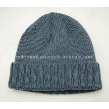 Acrylic Roll up Crochet Knitted Sport Beanie Cap (TRK3004)