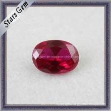 Ruby Oval Shape Synthetic Gems 5# Ruby