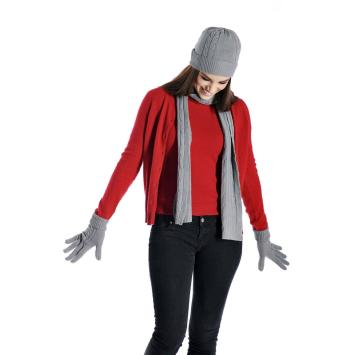 Cashmere Scarf,Hat Glove Set
