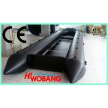 Barco inflável barato com motor fora de borda para venda