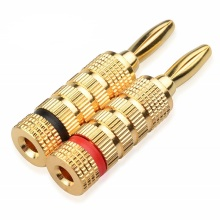 Audio banana plug gold plated