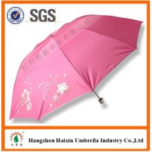 Fabrik Direkt Customed Print UV Schutz Rosa Regenschirm Mit Logo
