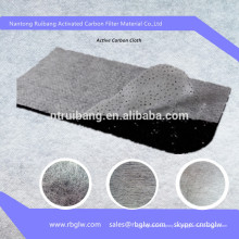 tela filtrante de sándwich de fibra de carbón activado