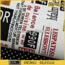 moda poly algodón periódico impreso a tela tejida