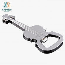 Custom Logo Promotional Gift Alloy Casting Guitar Bottle Opener in Metal Craft
