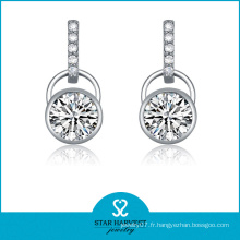 Boucles d'oreilles en argent simple style 925 en argent (SH-J0110)