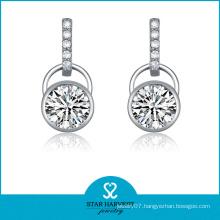 Wholesale Simple Style 925 Silver Drop Earrings (SH-J0110)