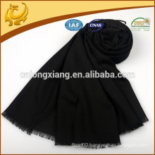Hot Sale Factory Price Lady Big Black Wool Scarf