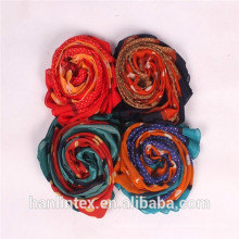 Écharpe musulmane tissu de polyester filé / Ne 80/1 fil filé tissu polyester pour écharpe