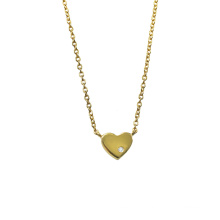 Tiny Love Heart Gold Plated Necklace