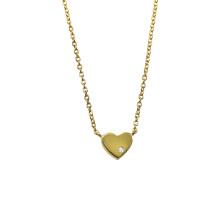 Coração minúsculo do amor colar banhado a ouro