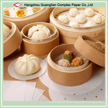 Customize Baking Paper Pad with Holes for Bamboo Steamer Use