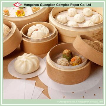 Personnalisez le tampon de papier de cuisson avec des trous pour l'usage de vapeur de bambou