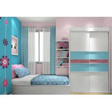 Armoire de chambre à coucher avec étagère de livre ensemble
