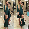 2017 nueva familia de verano de moda europea que empareja la ropa madre e hija vestido largo maxi