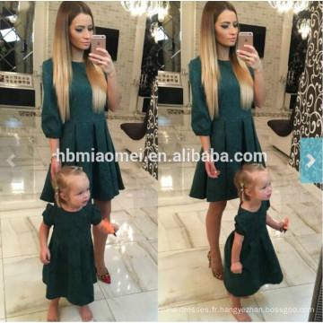 2017 européenne nouvelle mode été famille correspondant vêtements mère et fille longue robe maxi