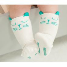 Meias de meias de algodão de bebê fofo com antiderrapante (ka022)