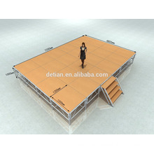 Aluminum truss tent stage shanghai exhibition booth construction Outdoor aluminum big clear mobile portable indoor stage ,assemble stage ,dj booth