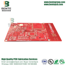 "Carte rouge de la carte PCB IT180 élevée de l'encre rouge 4 couches ENIG 3u ""Thick Gold"