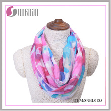 2016 Latest Spring Colorful Letter Pattern Ladies Cotton Infinity Scarf