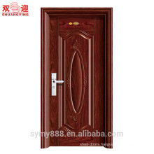 metal front door main design steel entry door metal powder painted with anti-thief handle
