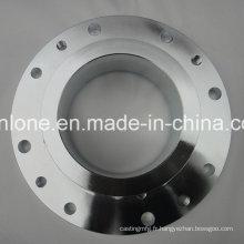 Précision de forgeage et d'usinage des pièces de bride en acier