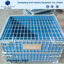 Contenedor plegable con caja de malla de alambre soldada Pallet