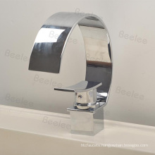 Chrome C Shape Neck Basin Faucet Bathroom Water Tap Mixer