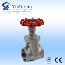 Stainless Steel Gate Valve 200psi Thread Ending