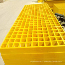 vente en gros Plateformes Plate-forme composite anti-silp Fiberglass plastique renforcé FRP stock panneau caillebotis