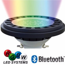 2017 RGBW IP67 10W AR111 Bluetooth Dimmable LED Spotlight