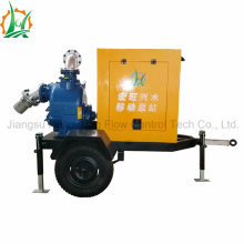 Rainproof Self-Priming Sewage Trash Diesel Trailer Mounted Pump