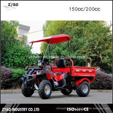Hot Deisgn 150cc 4 Wheeler ATV para Adultos con Remolque