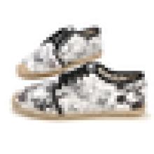 Gedruckte Blume Segeltuchschuhmänner beiläufige espadrille Schuhe schnüren sich oben