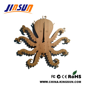 Octopus cartoon wall clock