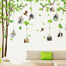 Los niños juegan la etiqueta engomada casera desprendible de la pared del árbol de la decoración, etiquetas engomadas decorativas de la pared de DIY