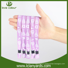 New style design custom fabric material wristbands for events