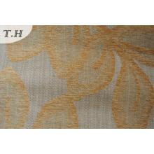 2016 Jacquard Chenille Tissu de chenille de tapisserie d'ameublement avec des feuilles