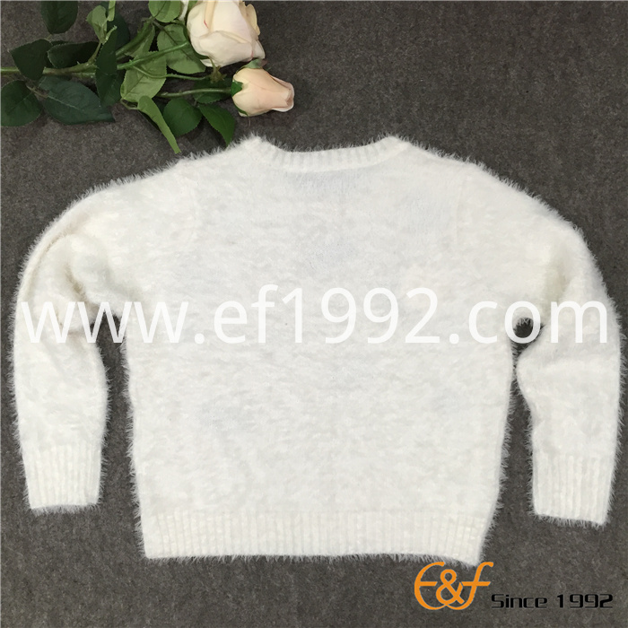 mohair long raglan sweater