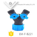 EM-F-B221 Y type plastic 3-way garden hose connector