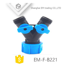 EM-F-B221 Y type plastic 3-way garden hose connector