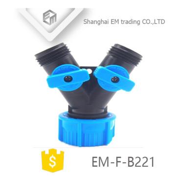 EM-F-B221 Y-Kunststoff-3-Wege-Gartenschlauchanschluss