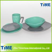 Juego de cena de cerámica con la taza de 7