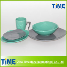 Juego de cena de cerámica con 7 tazas de forma